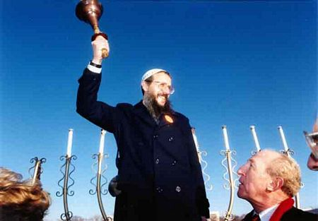 "Dec. 1987: Yosef Mendelevich at the ""Freedom Sunday"" March on Washington for Soviet Jewry"