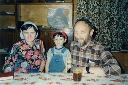 Aug. 1989: Vladimir Dashepsky, wife, and son, Moscow