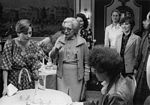 Mar. 1979: Congressional Wives for Soviet Jewry and other activists meet wife of Israeli Prime Minister Menachem Begin