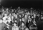 Oct. 1973: Thousands gather at a Simchat Torah rally in Rochester, NY.
