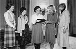 Feb. 1979: the Congressional Wives for Soviet Jewry Committee present a book of appeals from the Moscow Women's Group to First Lady Rosalynn Carter